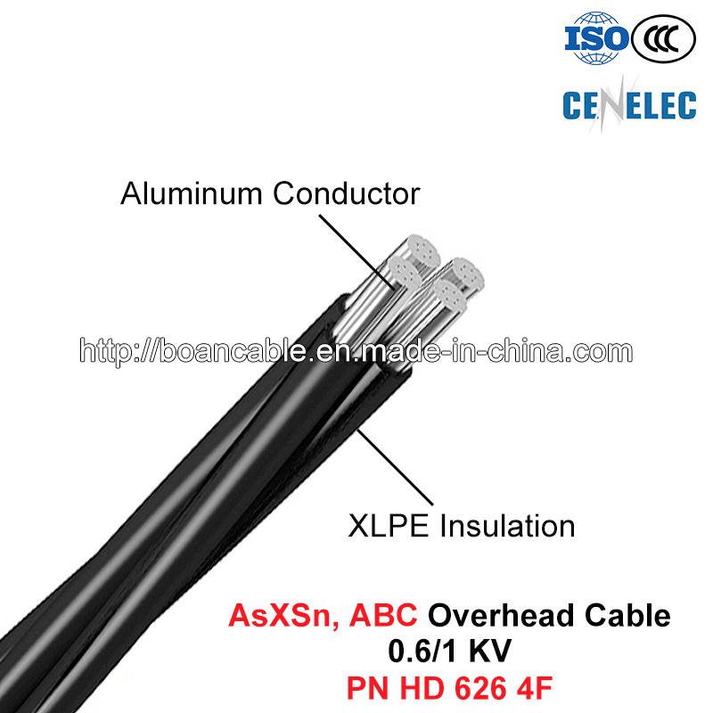 Asxsn Overhead Cable, 0.6/1 Kv, Al/UV-XLPE, ABC Cable (HD 626)