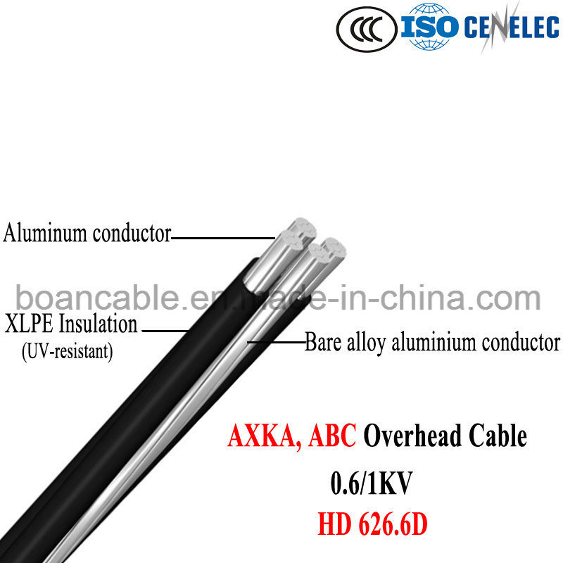 Axka, Al Conductor, UV-XLPE Insulation, ABC Overhead Cable, 0.6/1kv, HD 626.6D