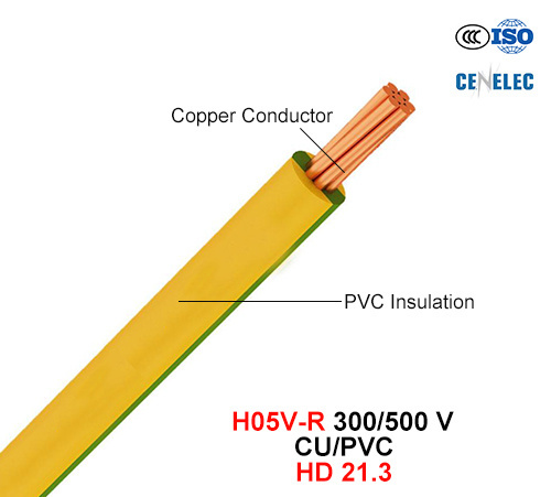 H05V-R, Electric Wire, 300/500 V, Cu/PVC Insulated Cable (HD 21.3)