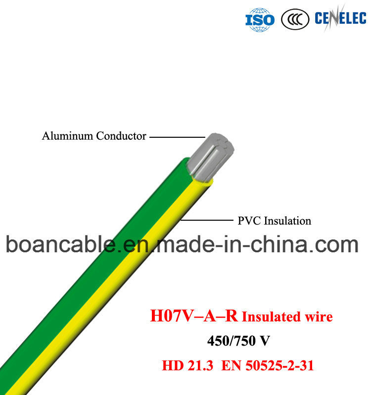 H07V-a-R, Al/PVC Insulated Wire, HD 21.3, En 50525-2-31