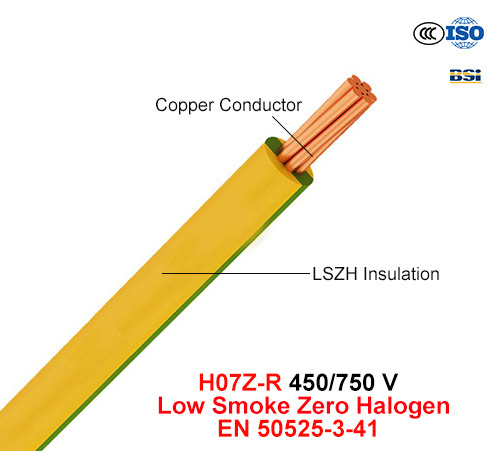 H07z-R, Electric Wire, 450/750 V, Cu/Lszh (LS0H) Cable (EN 50525-3-41)