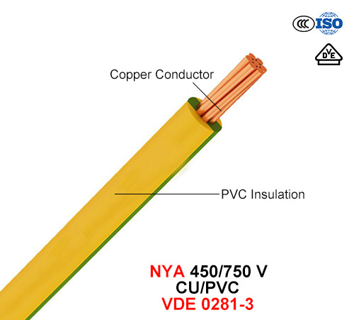 Nya, Electric Wire, 450/750 V, Cu/PVC (VDE 0281-3)