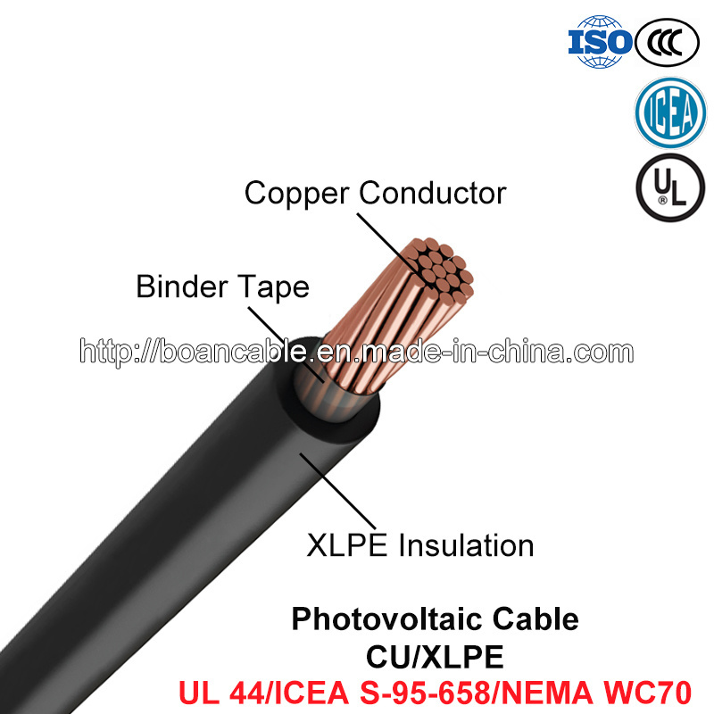 Photovoltaic Cable, Power Cable, Cu/XLPE (UL 44/ICEA S-95-658/NEMA WC70)
