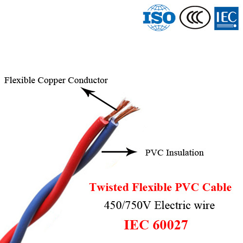 Twisted Flexible Cable, Electric Wire, 450/750V, IEC 60227