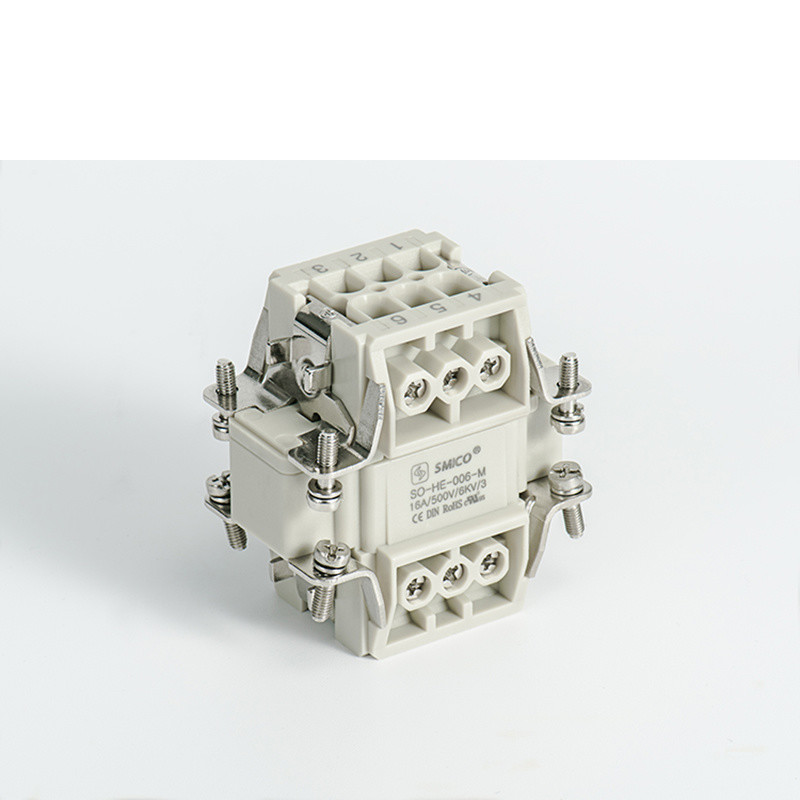 6pin Han E Series Waterproof Heavy Duty Connector Similar Harting