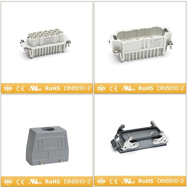 Heavy Duty Connector Crimp Terminal Waterproof Rectangular Connector