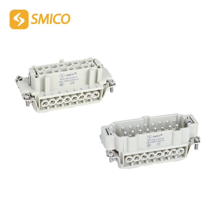 SO-HE-016-M/F 16pins 16holes Industrial Plug Socket Heavy-Duty Connector