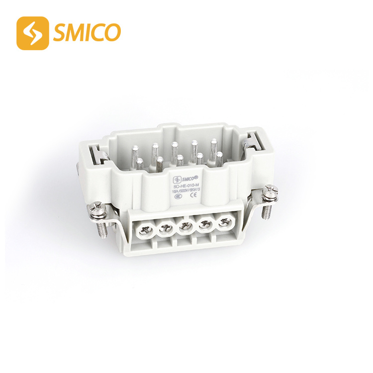 Screw Terminal 500V Female, Male He Series Heavy Duty Connector with 10 Pins