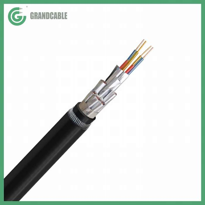 12X2X2.5mm2 Anti-Termite Twisted Pair XLPE Aluminum Foils Polyster Screened Armoured PE sheathed Instrumentation Cable