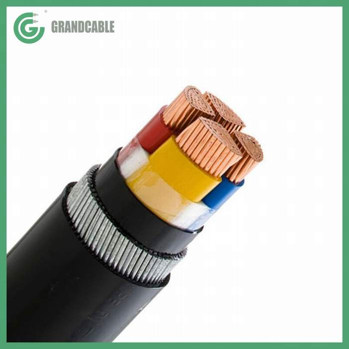 CU/XLPE/SWA/PVC 4Cx10mm2+1Cx6mm2 ECC 0.6/1kV Underground Armored Power Cable