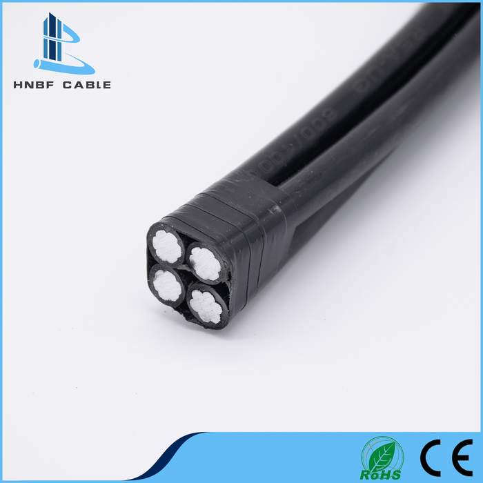 Copper/Aluminum Conductor PE/XLPE/PVC Insulation Electric Power Twisted Electrical Overhead Service Drop ABC Cable