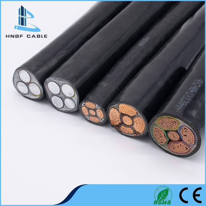 Low Voltage Copper/Aluminum Conductor XLPE/PVC Insulation Electric Power Cable