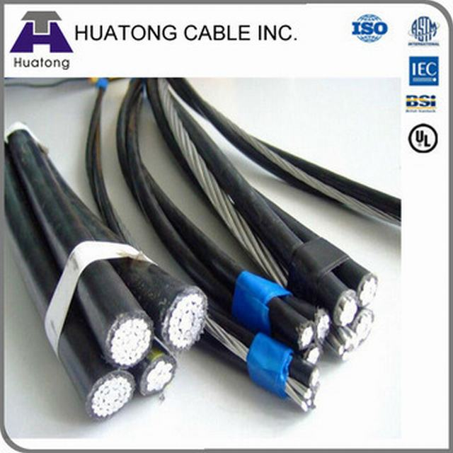 Aluminium Core Two Phase Cable with 0.6/1kv Duplex Service Drop ABC