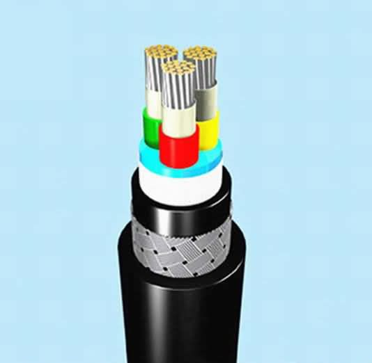 0.6/1kv 4 Core 1.5mm XLPE/Epr Insulated Single Sheath Wire Copper PVC Submarine Cable