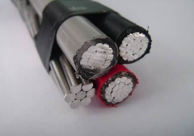 0.6/1kv 4 Core 35mm 50mm 70mm 95mm Aluminum Conductor X-90 Insulation Aerial Bundle Cable