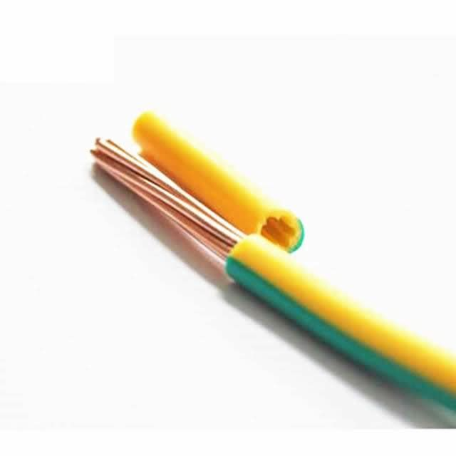 0.6/1kv Stranded Copper PVC Insulated 4mm2 6mm2 Green/Yellow Wire