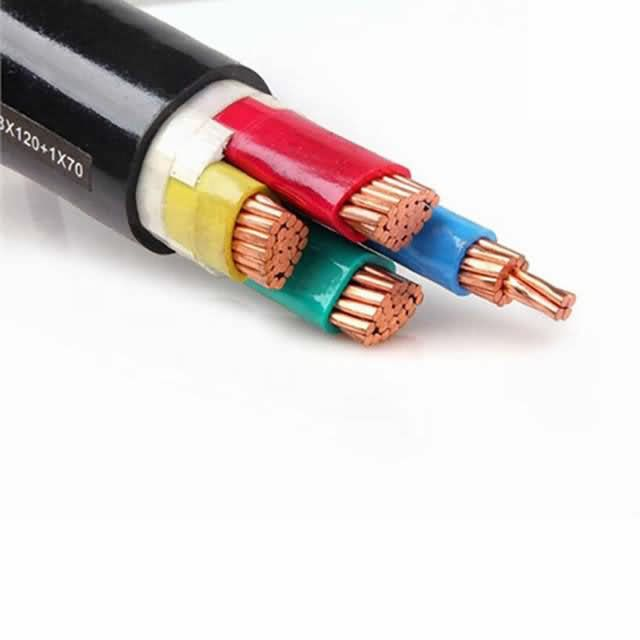 1kv 4 Cores 50mm2 70mm2 Copper Conductor XLPE Insulation PVC Sheath Cvv Cable