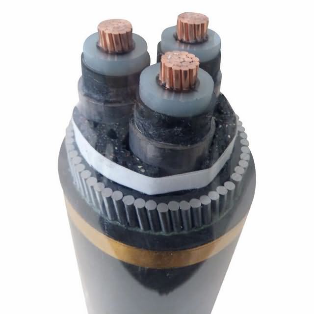 3 Core 185mm2 Steel Wire Armour 33kv XLPE Underground Cable