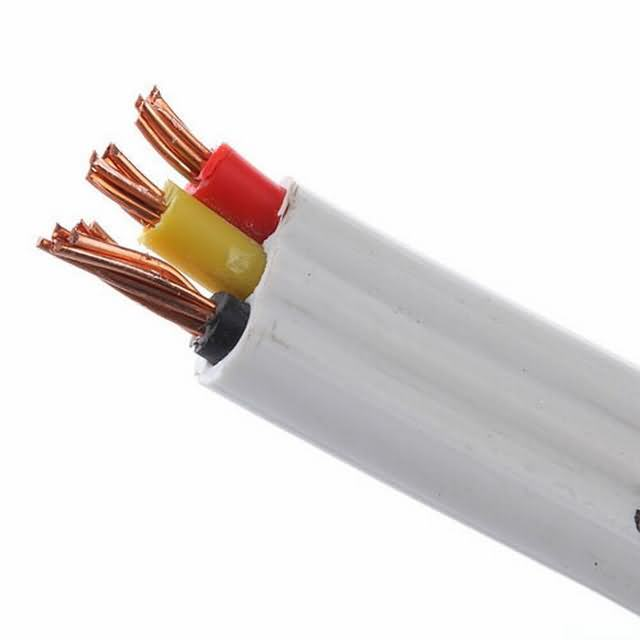 300/500 V Flat Cable 2+1 Core 1.5mm2 2.5mm2 Electrical Wire