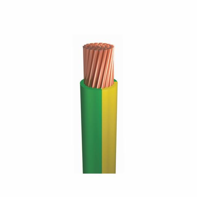 6mm Flexible Copper PVC Green and Yellow Electircal Earth Ground Wire Cable
