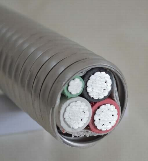 Copper Multiconductor, XLPE Insulation, Aluminum Interlock Armor and PVC Cover Cable 600 V