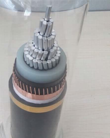Electric Single Core XLPE Insulated Copper Wire Shield 11kv Aluminum Power Armour Cable