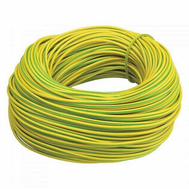 Green Yellow PVC 50mm2 Earth Cable with Copper Conductor