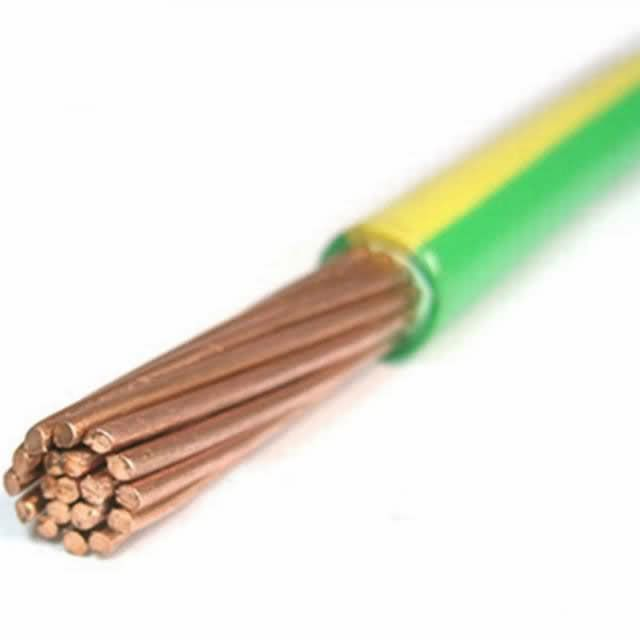 Yellow Green Grounding Cable for Protective Use