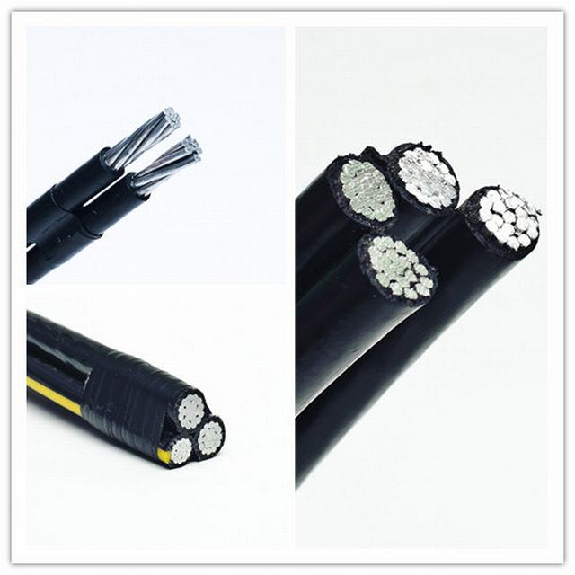 0.6/1kv XLPE Insulated Quadruplex Service Drop Conductor Aluminum Cable