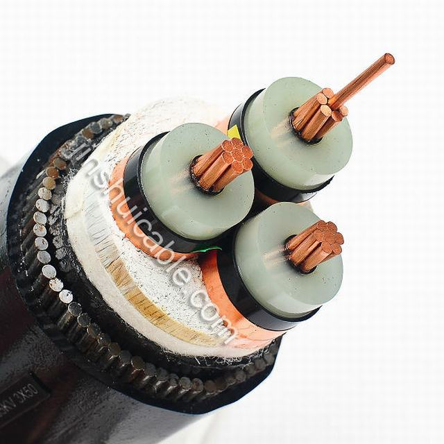 8.7/15kv XLPE Insulation Medium Voltage Armored Power Cable