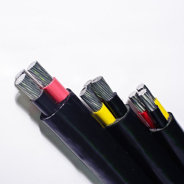 PVC Insulated Waterproof Cable Aluminum Conductor Power Cable