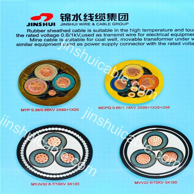 Rubber Sheath Cable for Underground