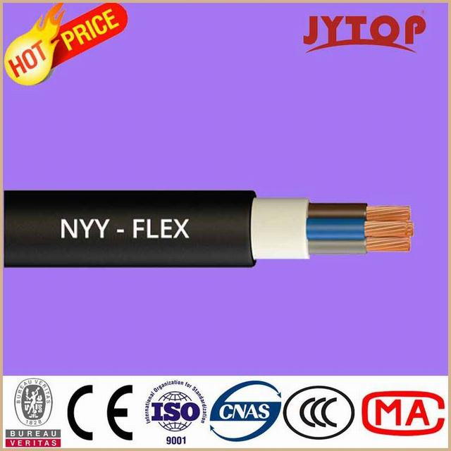 Yvv (NYY) Copper Cable, 0.6/1 Kv PVC Insulated Cables with Copper Conductor