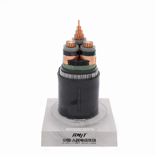 11kv 1*185mm2 XLPE Insulation Sheath Copper Electric Cable Wire