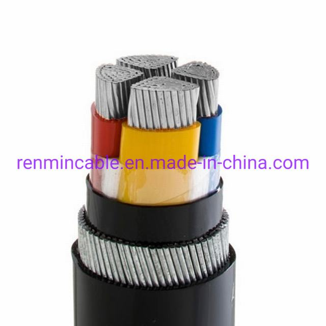 Armoured Power Cable Al XLPE PVC Size XLPE 4 Core Armoured Electric Copper Power Cable