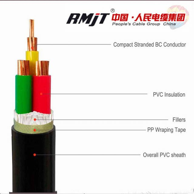 Copper Conductor Power Cable with XLPE Insulated and PVC Sheathed Electric Wire
