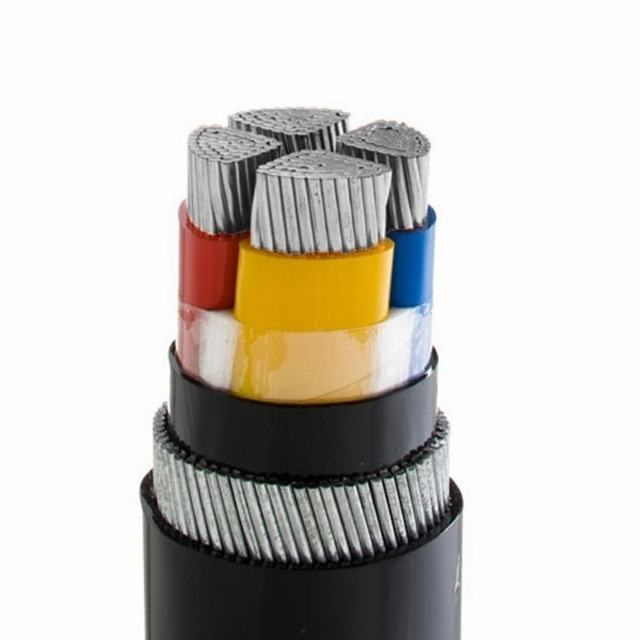 XLPE Insulated PVC Jacket Copper Aluminum Conductor 4 Core Overhead Electrical Cables Underground Steel Tape Armoured Power Cable
