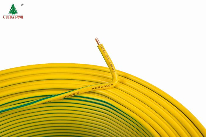 High Standard Flexible Copper Conductor Environment-Friendly PVC Insulation Sheath Electrical Wire