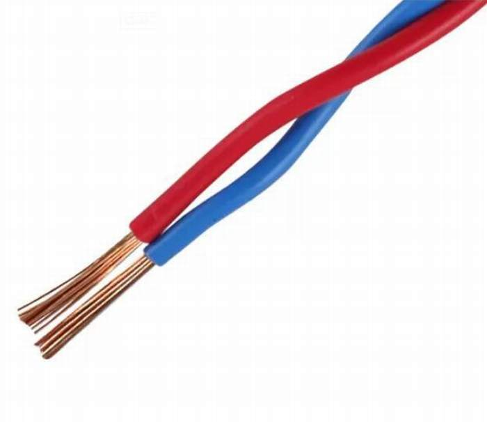 Twisted Twin Wire 2X0.5mm2, 2X0.75mm2, 2X1.5mm2, 2X2.5mm2 with Red and Blue Colour