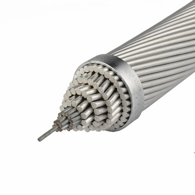 Bare Aluminium Conductor Steel Reinforced ACSR Conductor, Overhead Installation Stranded Aluminium Wire.