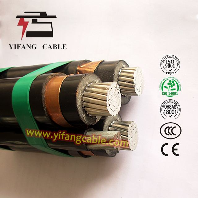 (12 / 20) 24kv Overhead Insulated Cable 3X95/16mm2