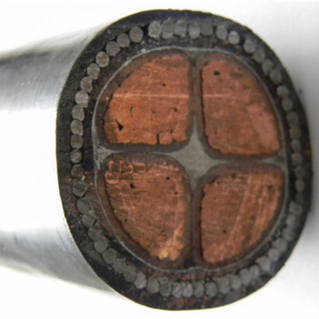 0.6/1kv 4 Cores Copper Conductor XLPE Insulated Armored Power Cable