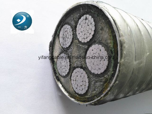 0.6/1kv Interlocking Armored Cable 5X70sqmm Aluminum Conductor