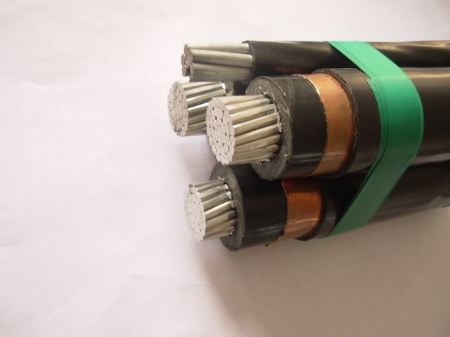 11kv ABC Cable Aluminium 3 Core Type a (armoured) Steel Catenary