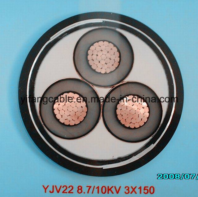 22kv, 33kv, 11kv Cu/XLPE/Swa or Sta /PVC Medium Voltage XLPE Power Cable