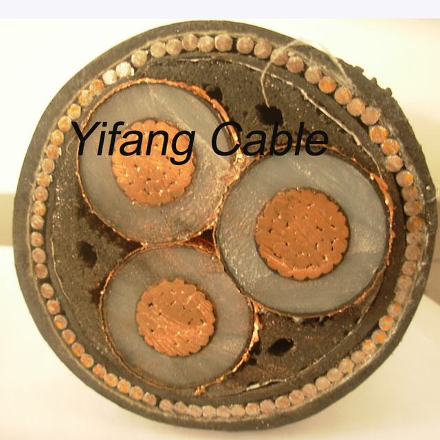 33kv XLPE Armoured Copper Power Cable 3X185mm2
