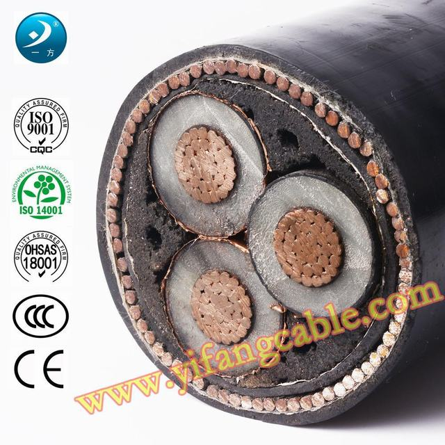 6/10 (11) Kv, Al XLPE Swa PVC 3X185mm2 Power Cable