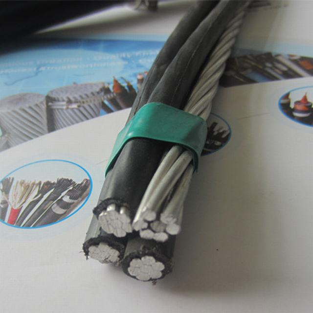 600V Aluminum XLPE PE Insulated Black Weather Resistant Service Drop Secondary Cables
