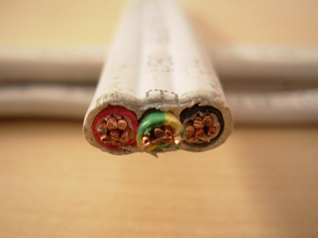 Cu/PVC (single core) aislamiento de PVC, Non-Sheathed Cable, 450 / 750V, BS EN50525-2-31, IEC60227