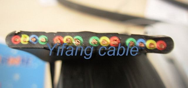 Flat Rubber Cable Copper Elevator Cable
